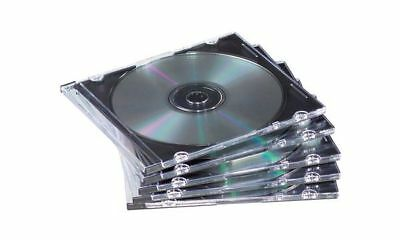 Fellowes CD-Leerhülle, Jewel Case, transparent/schwarz