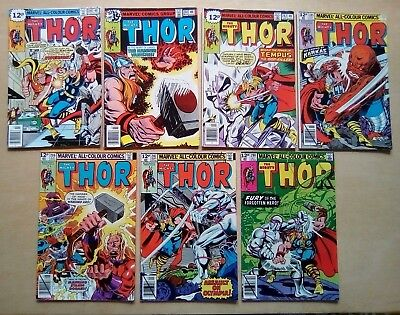 7 ISSUES THOR #280.281,282,285,286,287,288 MARVEL COMICS 1979 1st PRINT ALL FINE
