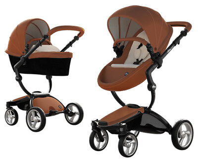 Mima Xari Black Chassis Reversible Seat Stroller w Starter Pack Camel / SD Beige