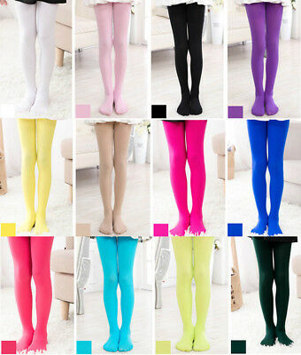 Age 4-12 Kids Elastic Tights Girls Princess Pantyhose Ballet Party Dancing Socks