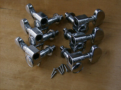 Grover 102 C 14:1  Rotomatic Tuners 3L/3R Chrome Tuning Machine Pegs