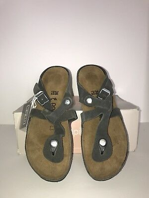 d0fc41cfda5 BIRKENSTOCK WOMEN S GIZEH Leather Sandals Tabacco Brown Size EU 38 ...