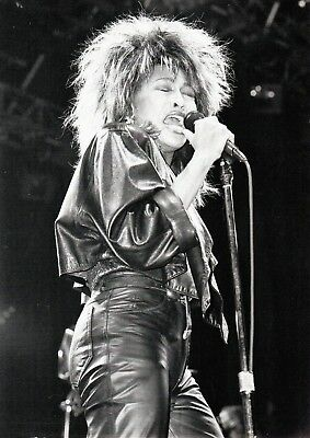 Tina Turner Photo 1985 Unique Image Unreleased Huge 12 Inches Exclusive B &white
