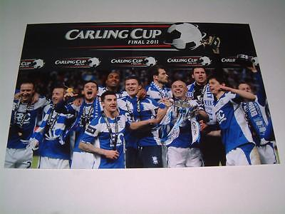 Birmingham City Fc 2011 Carling Cup Final Winning Team Photograph