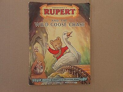 Rupert And The Wild Goose Chase Vintage Daily Express Publication 1954 #20