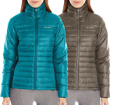 NEW COLUMBIA POWDER PILLOW HYBRID JACKET Women's M-L-XL Puffy Choose Blue/Brown
