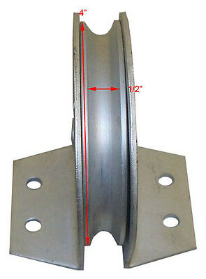 "4"" FLAT MOUNT Snatch Block Sheave Pulley 1700 lbs Cap."