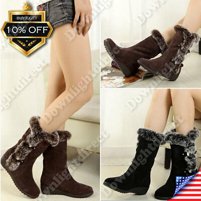 Women Ankle Warm Boots Ladies Slip On Waterproof Snow Boot Winter Cotton Shoes