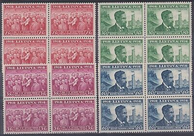 109) LITHUANIA - LIETUVA 1939 - 20 th. ANNIVERSARY INDEPENDENCE  - MNH SET