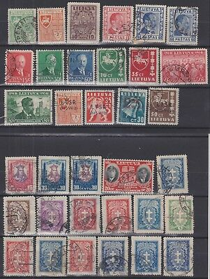 112) Lithuania - Lietuva 1926 / 1940   -  Used  Selection - See Postmarks !!