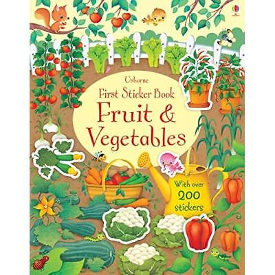 First Sticker Book Fruit and Vegetables - Paperback NEW Watson, Hannah 01/05/201