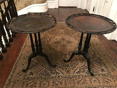 Pie Crust Mahogany End Tables