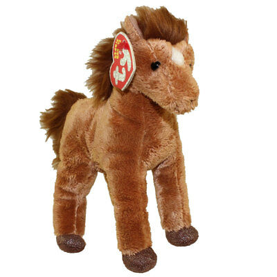 TY Beanie Baby 2.0 - SADDLE the Horse (7 inch) - MWMTs Stuffed Animal Toy