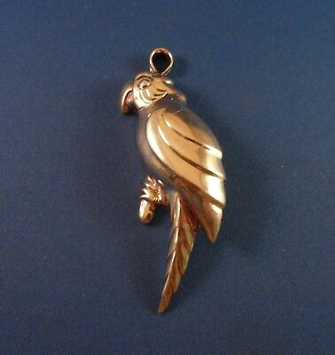Signed: Sterling Silver PARROT -  Pendant / Brooch - Pin