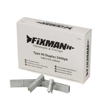 Fixman 471953 Type 90 Staples 5.85 x 13 x 1.25mm Pack of 5000