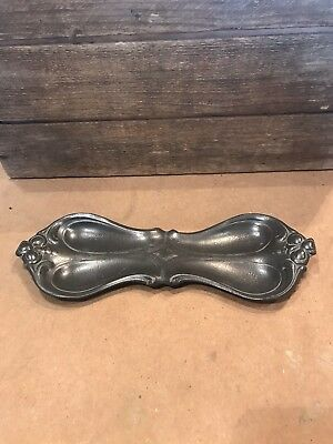 Superb Art Nouveau Arts & Crafts Metal Pin Tray Heavy Pewter Inherited Item