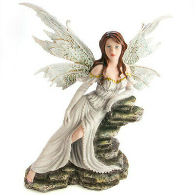 Hand Painted and Beautifully Finished Large Fairy Fig White Mystical Figurine