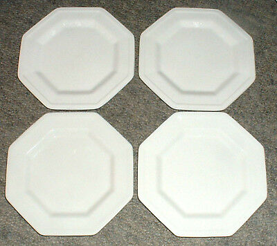 4 Johnson Brothers Heritage White Four X Side Plates / Cake / Cheese / Dessert