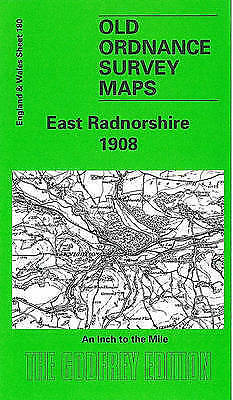OLD ORDNANCE SURVEY MAP East Radnorshire 1908: One Inch Sheet 180