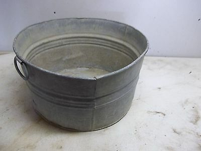 Old Metal Laundry Tub for  Flower Pot Garden Planter