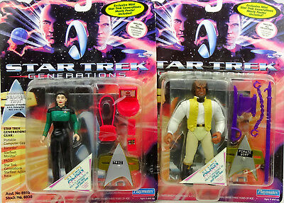 Deanna Troi & Worf Pirat Outfit (Für Auspacker) Star Trek Generations Playmates