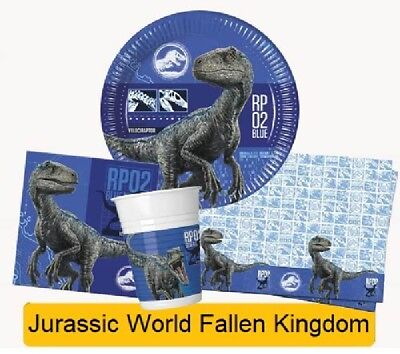 JURASSIC WORLD Fallen Kingdom Birthday Party - Tableware Balloons & Decorations