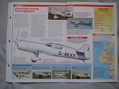 Aircraft of the World Card 25 , Group 1 - Percival Mew Gull
