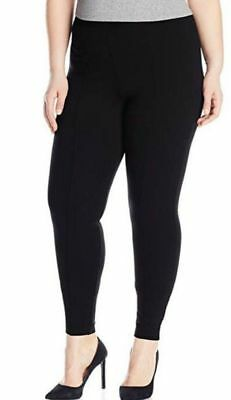 dc65faea57d2a4 Hue Women's Plus Size High Waist Blackout Ponte Leggings Black Size 1X~NWT