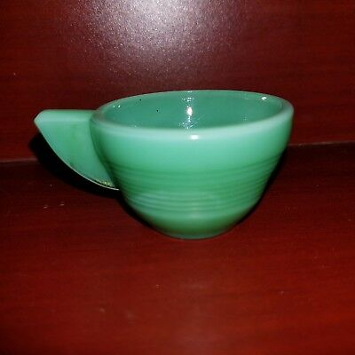 Vintage Akro Agate Small Stacked Disc Childs Green Jadite Cup