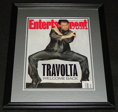 John Travolta Framed 11x14 ORIGINAL 1994 Entertainment Weekly Cover Pulp Fiction
