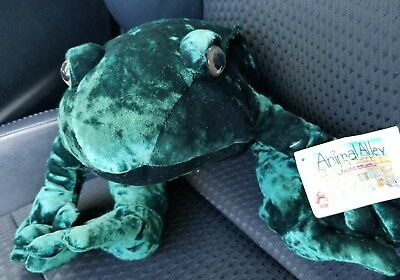 Animal Alley Large Plush Green Toad Frog stuffed 2000 Commonwealth Toysrus velou