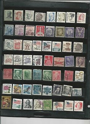 U.S.A. - COLLECTION OF USED STAMPS - 3 PHOTOS - #USA35abc