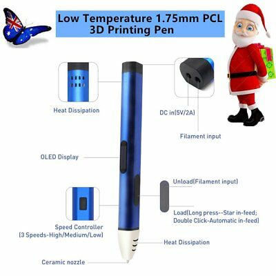 3D Printing Drawing Pen Low Temperature Modeling + Free PCL Filaments DIY Lot NP