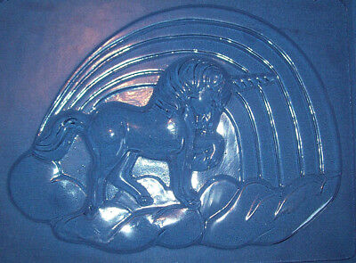 Large Unicorn With A Rainbow And A Cloud Chocolate Mould Or Plaster Mould