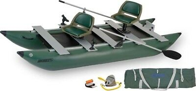 Sea Eagle 375FC FoldCat Inflatable Pontoon Boat - Deluxe Package