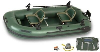 Sea Eagle STS10 Stealth Stalker 10 - 2 Person Inflatable Fishing Boat - Pro Pack