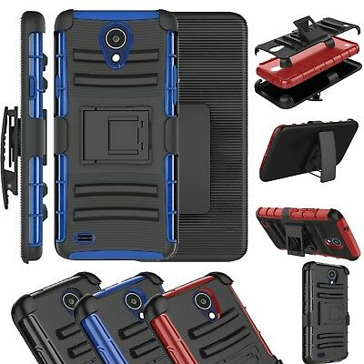 For AT&T AXIA Phone Case Kick Stand Armor Cover ADV Holster