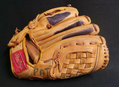 Vintage Left Handed Baseball Mitt Gj60 Rawlings Autographed Bob Grich
