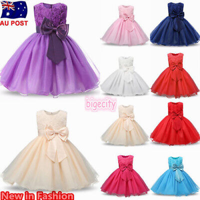 Girl Birthday Party Flower Princess Wedding Bridesmaid Pageant Formal Tutu Dress