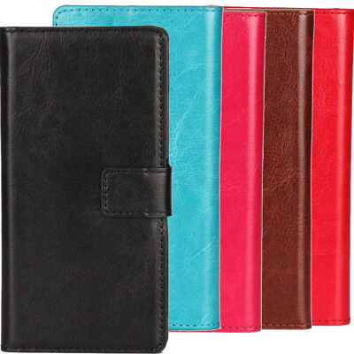 For Blackview Cubot - Luxury PU Leather Flip Case Phone Book - Wallet Cover Etui