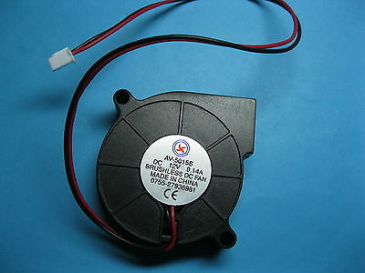 30 pcs Brushless DC Blower Fan 12V 5015S 50x50x15mm 2 Wires Sleeve-bearing New
