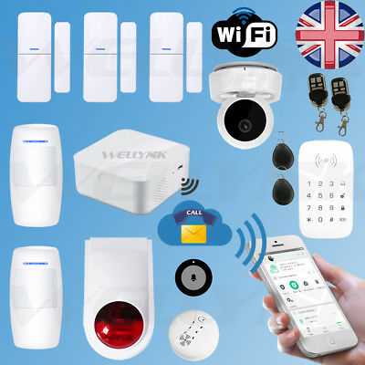 Wireless Wifi Gsm Autodial Sms Smart Home Office Security Burglar Alarm Systems