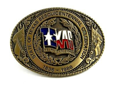 Official 1986 Texas Sesquicentennial Celebration Belt Buckle by TLB 73115