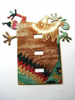 Southwest Lizard Double Light Switch Cover Plate by LaZart 02161511111G2
