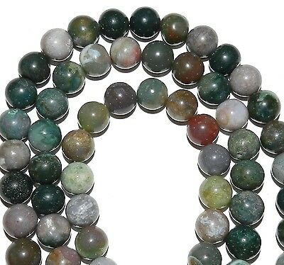 """GR444 Blood Agate Fancy Mixed 12mm Round Gemstone Beads 16"""""""