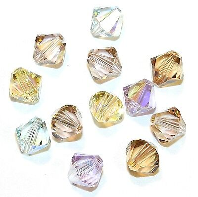 SCB6518 Innocence Mix Pink Yellow Blue 8mm Bicone Swarovski Crystal Beads 12pc