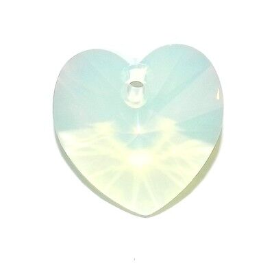 SCLX2105 Chryosolite Opal Green 14mm Heart Swarovski Crystal Pendant Beads 1pc