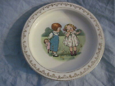 Old Antique D. E. McNICOL Heavy Baby's / Childs Plate / Bowl EAST LIVERPOOL