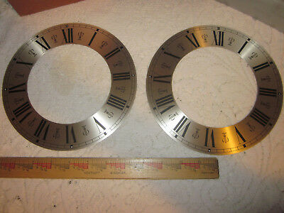 Vintage Lot of 2 Clock Dial Roman Numeral Rings Germany New Old Stock NOS