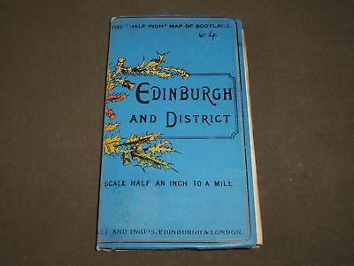 1800'S Scale Half An Inch Map Of Scotland-Edinburgh And District Book - J 3456